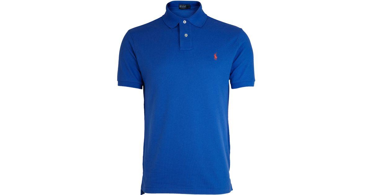 Lyst polo ralph lauren cobalt blue polo shirt in blue for Cobalt blue polo shirt