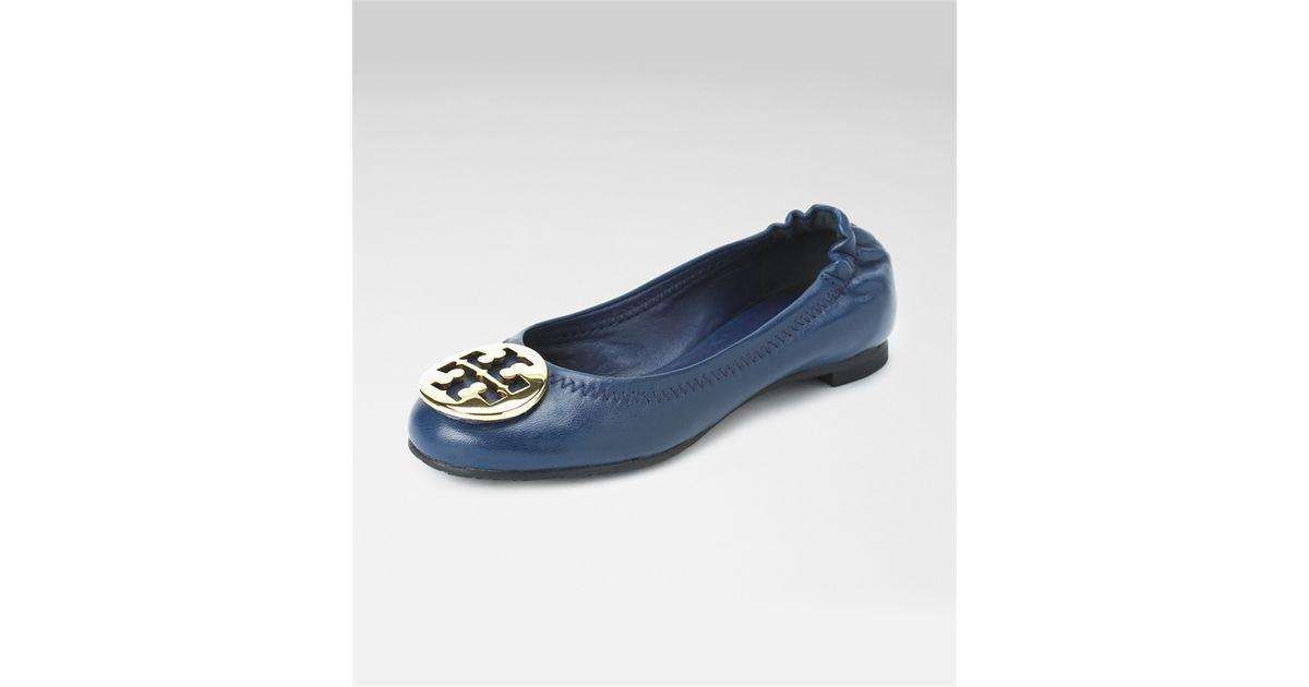 76faeaa3eba Lyst - Tory Burch Kids Classic Reva Ballerina Flat in Blue