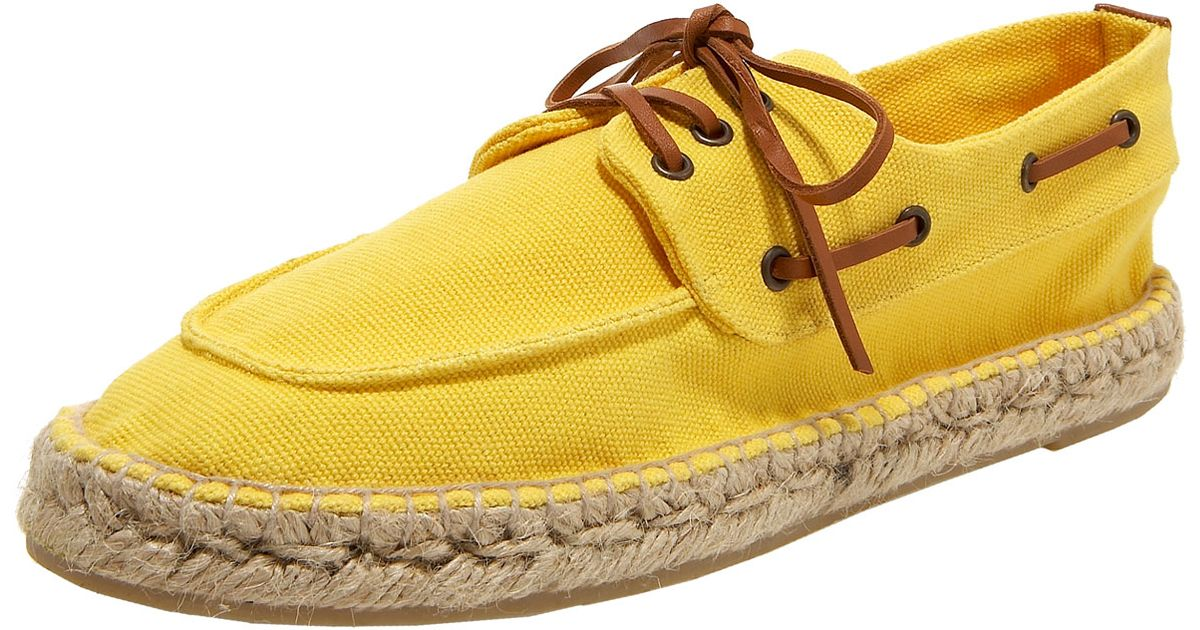bbdf969327e Lyst - Tory Burch Canvas Espadrille Boat Shoe in Yellow