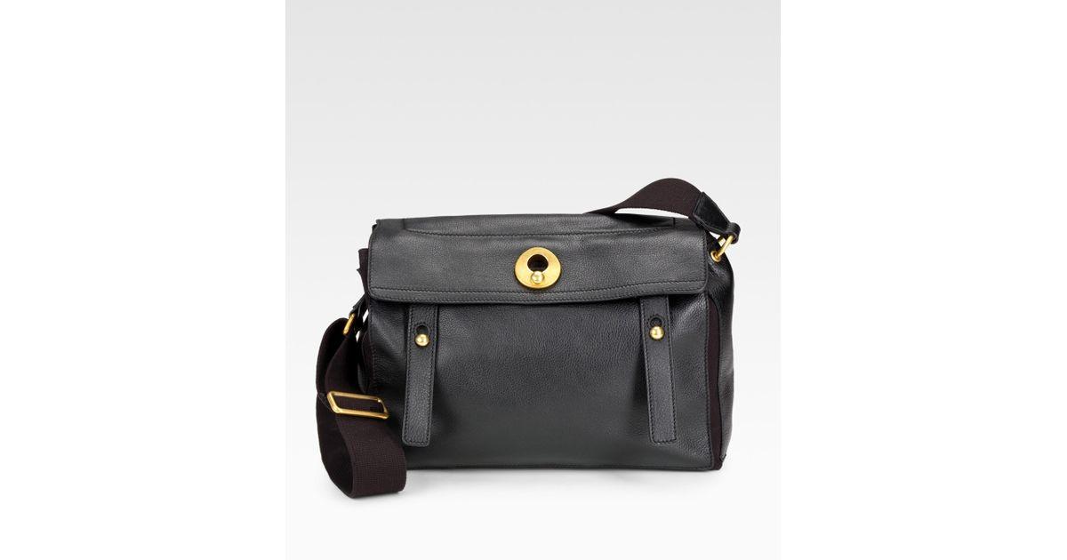 yves saint laurent textured leather mini muse bag