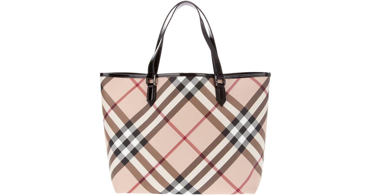 Burberry Nova Check Tote Bag in Natural - Lyst a2befe3fe51f5