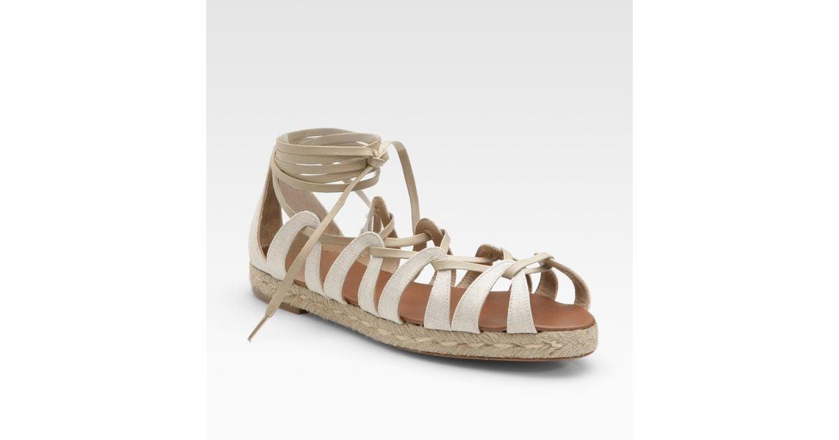 christian louboutin satin lace-up sandals