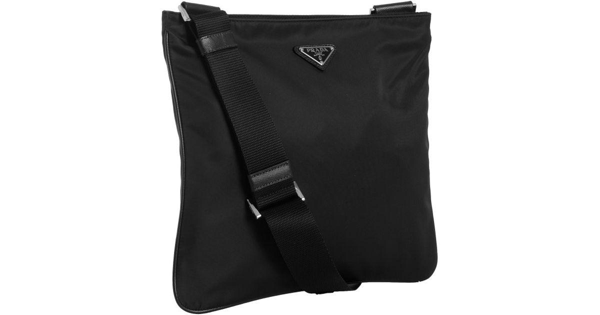 91519c8052b029 ... usa prada black nylon viaggio messenger bag for men lyst f591b 6d18a