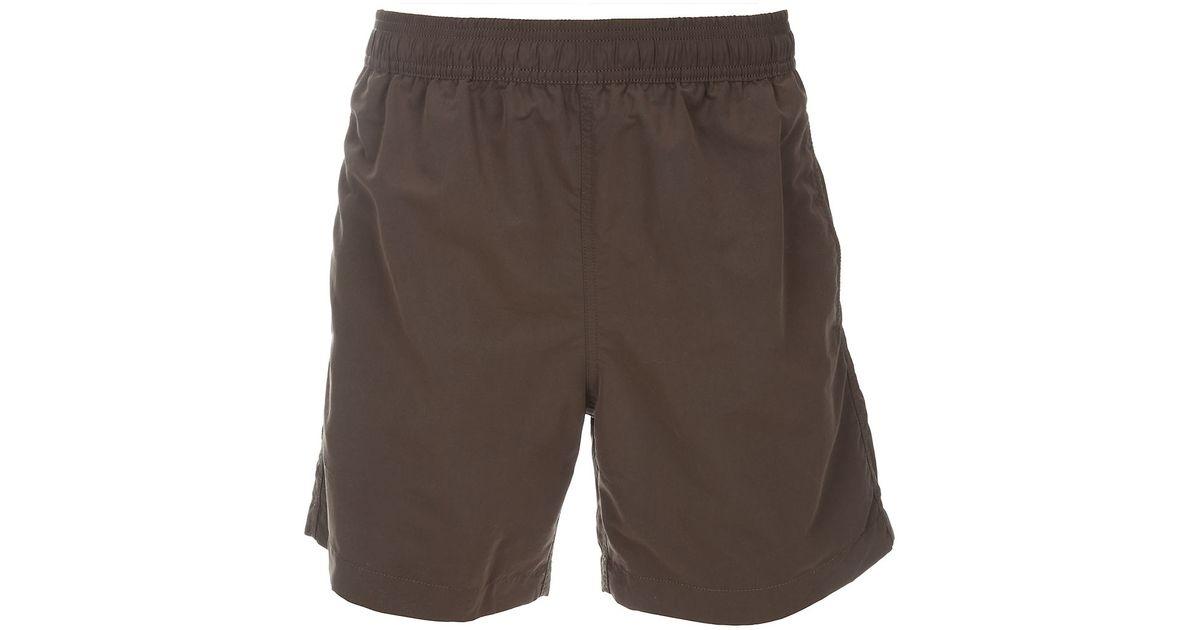 khaki green moncler shorts