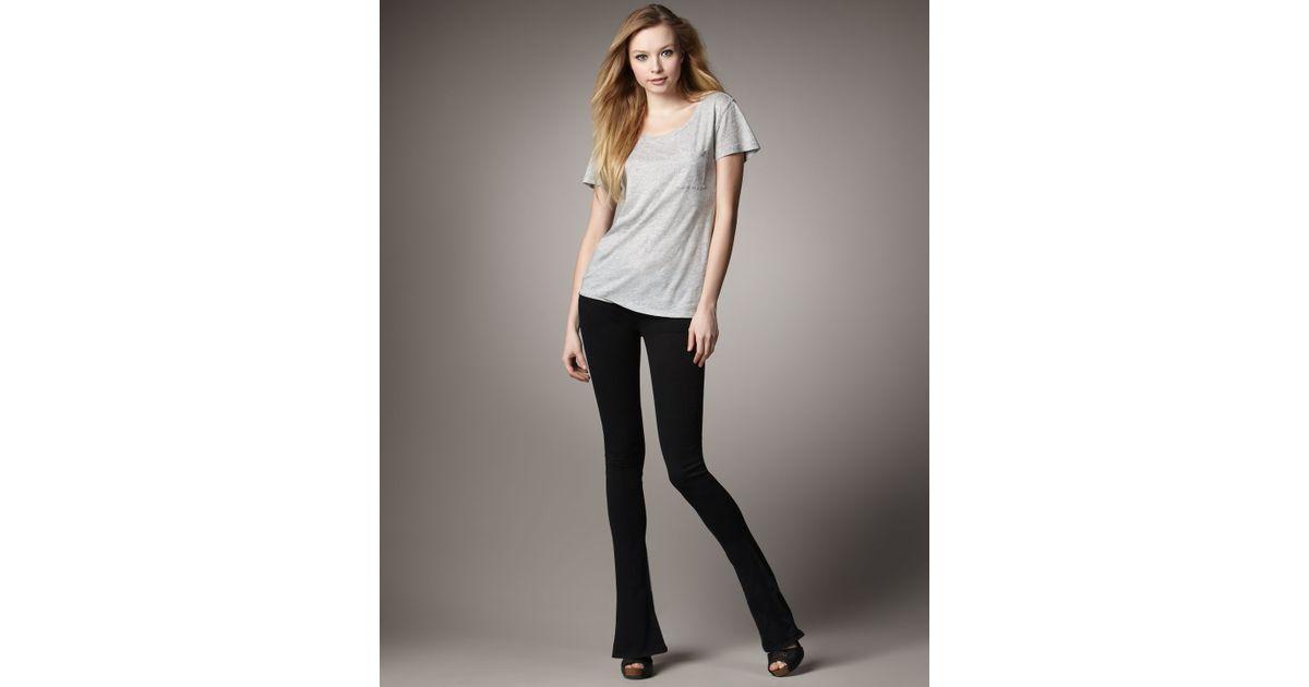 Joe's jeans Skinny Micro Flare Jeans, Black in Black | Lyst