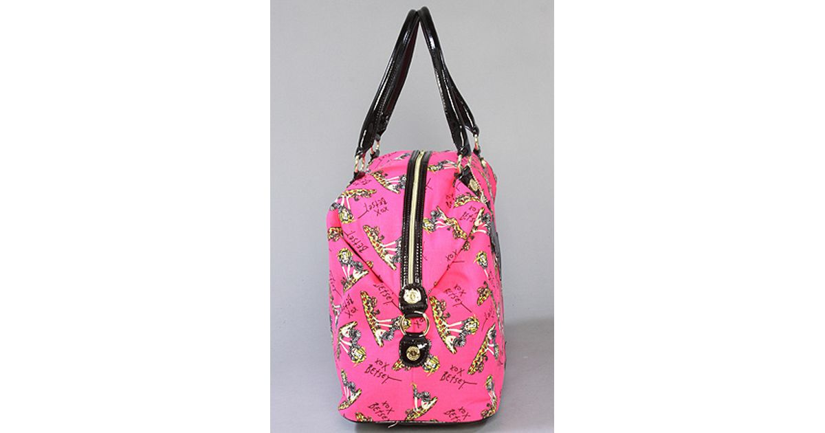 ad7bdcf45 Lyst - Betsey Johnson The Betseyville Super Betsey Ii Weekender in Pink
