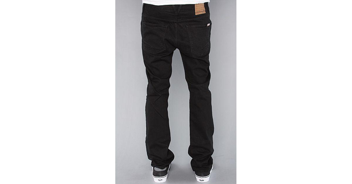 526a8b2cd4 Lyst - Vans The V76 Skinny Jeans in Overdye Black in Black