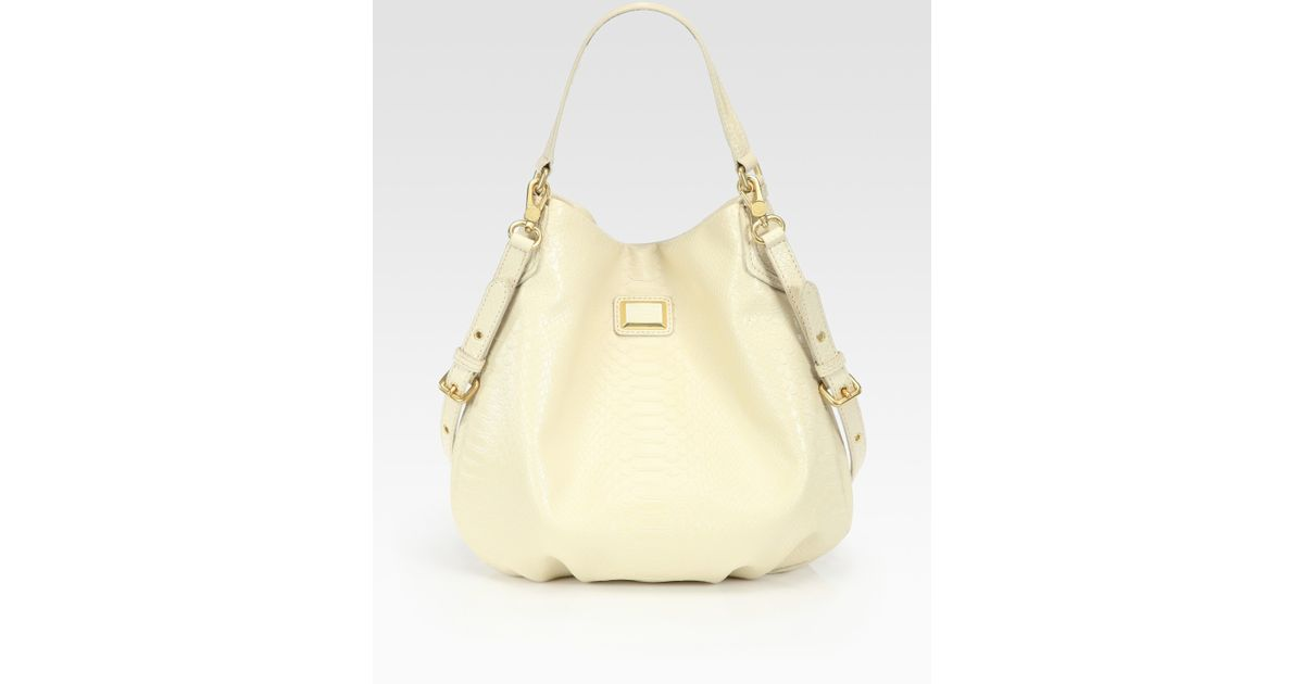 03c9917d2ab6 Lyst - Marc By Marc Jacobs Supers Croc-stamped Hillier Hobo Bag in Natural
