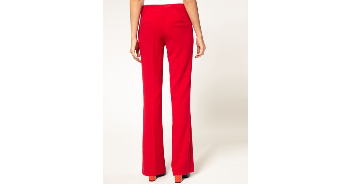 Bootcut trousers petite