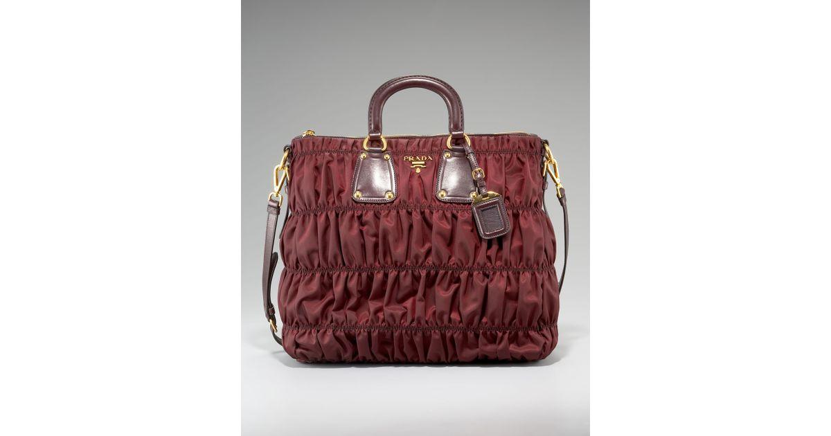 3bc3f3345a20 ... shop lyst prada tessuto gaufre nylon tote in red 50503 6d437