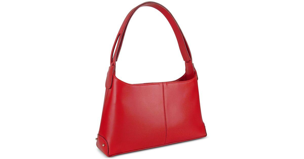 c9547bd73c Lyst - Fontanelli Classy Red Italian Leather Handbag in Red