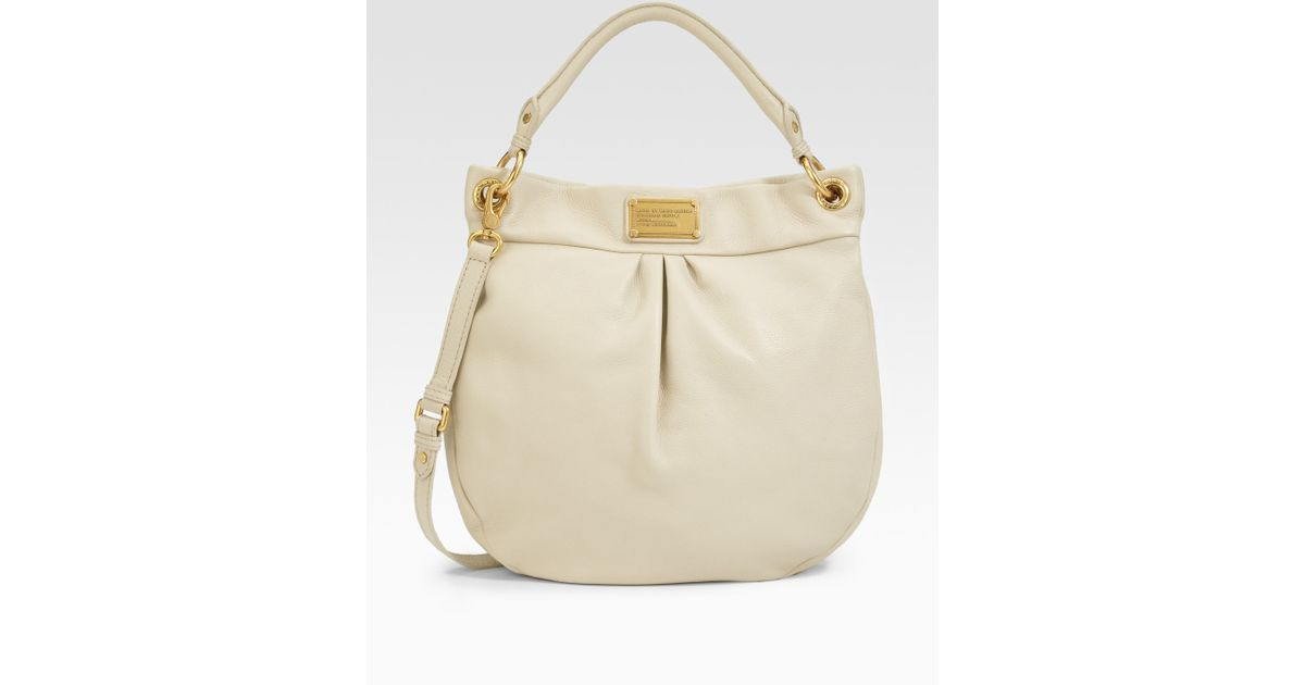 48da2fd409d6c Marc By Marc Jacobs Classic Q Hillier Hobo in White - Lyst