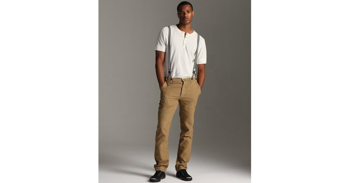 Lyst Converse Ghurka Cotton Linen Classic Chuck Suspender Pants In Natural For Men
