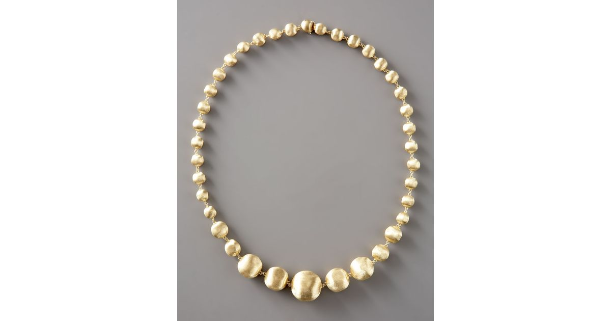 Lyst - Marco Bicego Graduated Gold-bead Necklace, 18l in Metallic