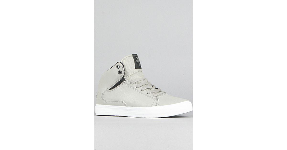 097641ae392 Lyst - Supra The Society Mid Sneaker in Grey Fiberglass in Gray