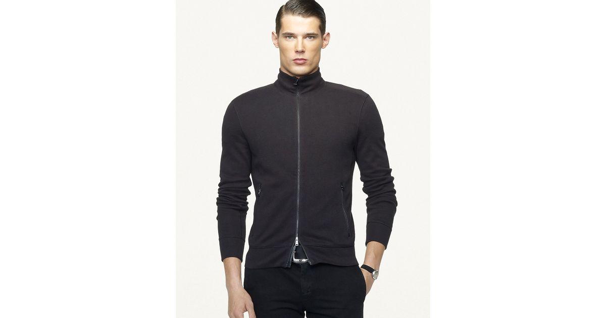 ralph lauren french rib full zip jacket .