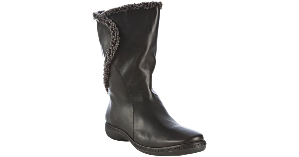 97499bff76e3 Lyst - Stuart Weitzman Black Nappa Leather Toggle Fur Lined Boots in Black