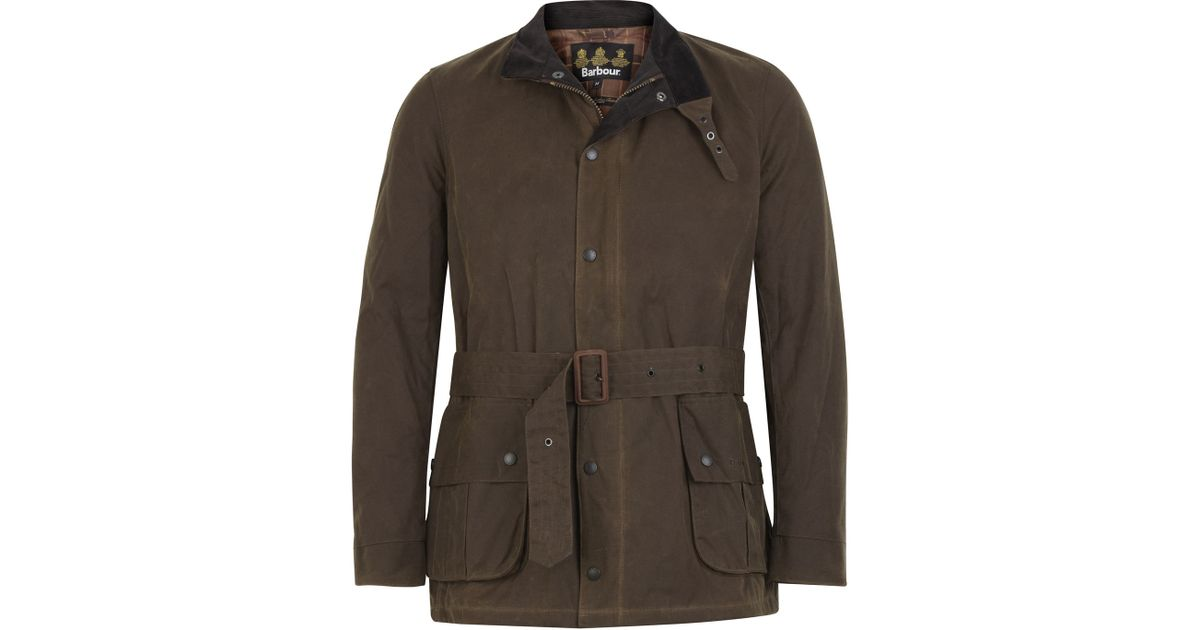Lyst Barbour Ursula Waxed Jacket Brown In Brown For Men