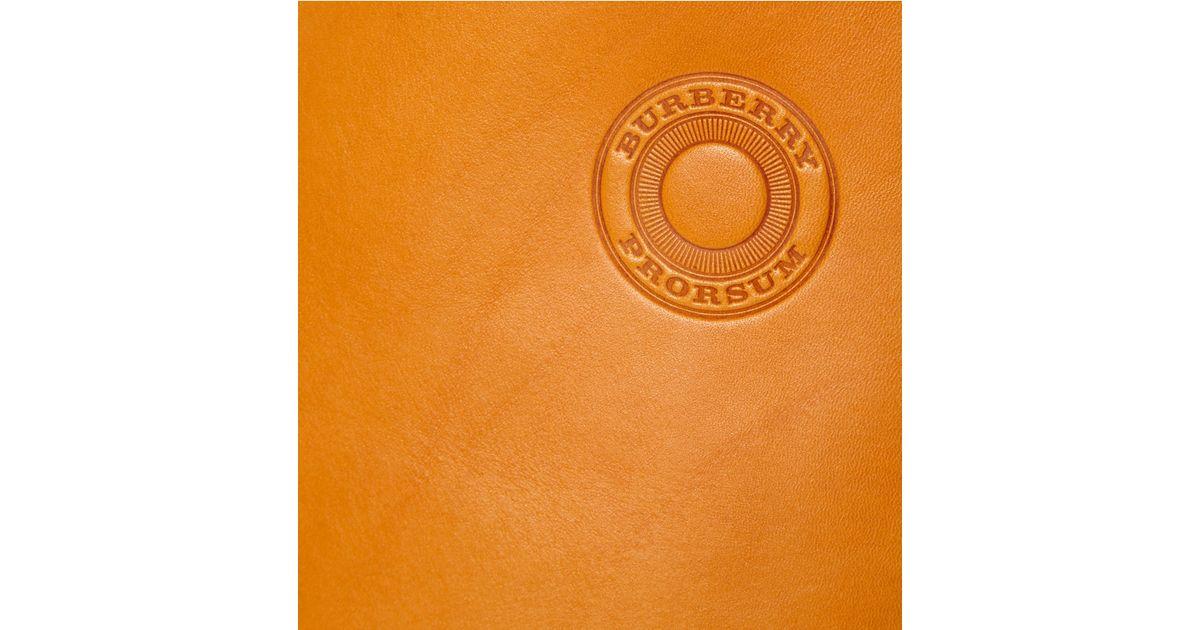 Lyst - Burberry Prorsum Leather Tote Bag in Orange for Men 76cfcadb46fb5