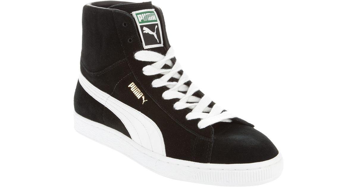 73e3358d5fb ... best puma hi top sneakers in black for men lyst 1fd79 d9f0e