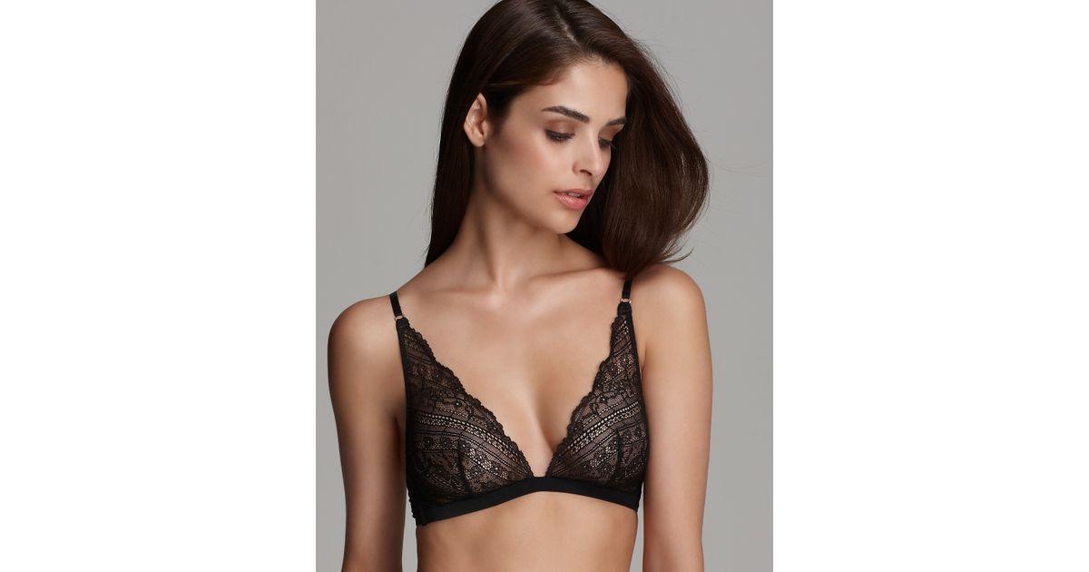 a3078fb2a9 Lyst - Calvin Klein Underwear Envy Lace Triangle Bra in Black