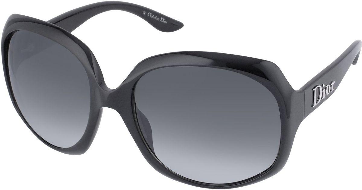 253fa2bf7c20 Lyst - Dior Glossy 1 Signature Plastic Round Sunglasses in Black