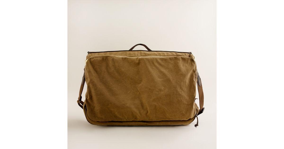 J Crew Natural Abingdon Garment Bag For Men