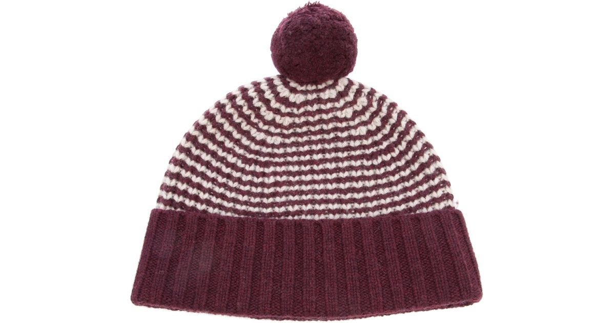 Ymc Striped Bobble Hat in Purple for Men - Lyst 7185db1e7ea
