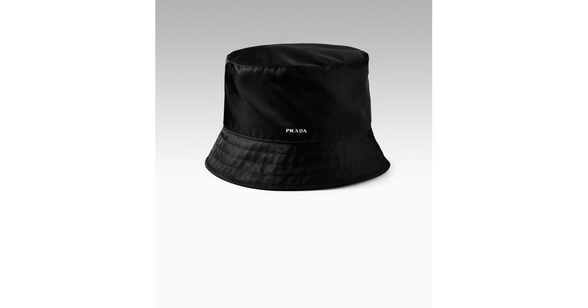 71250b49 Prada Nylon Bucket Hat in Black for Men - Lyst
