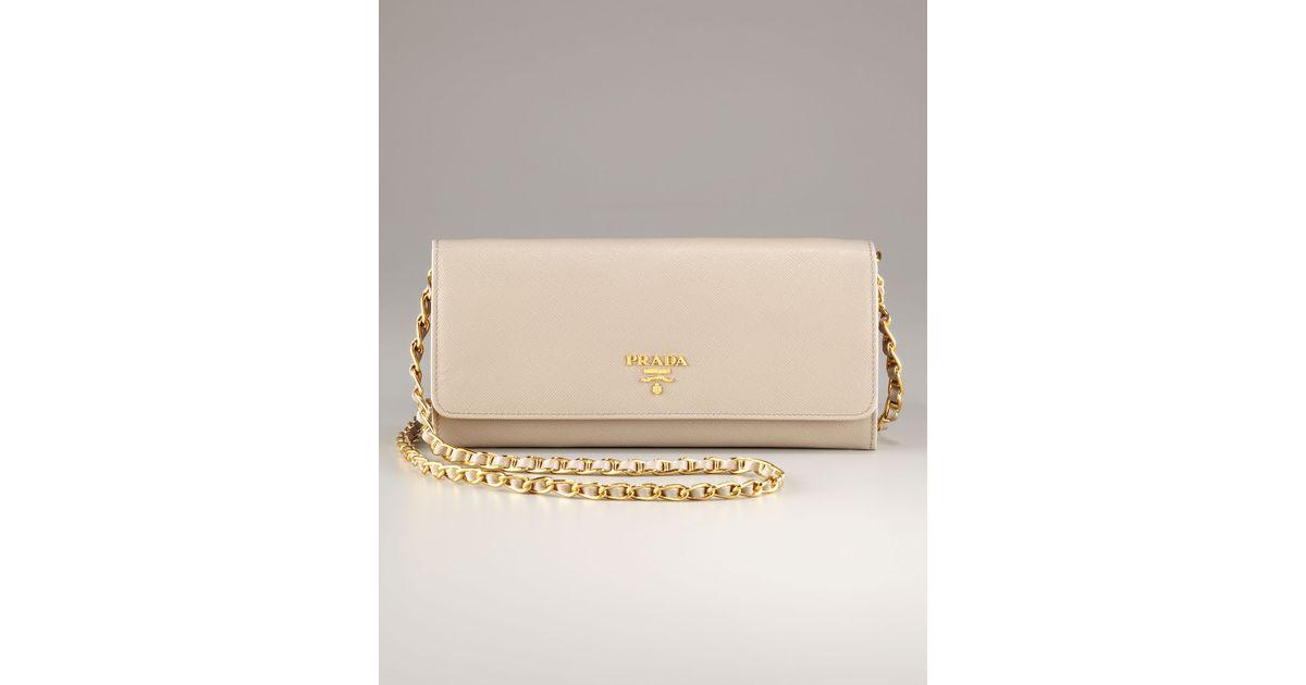 Prada Wallet Gold