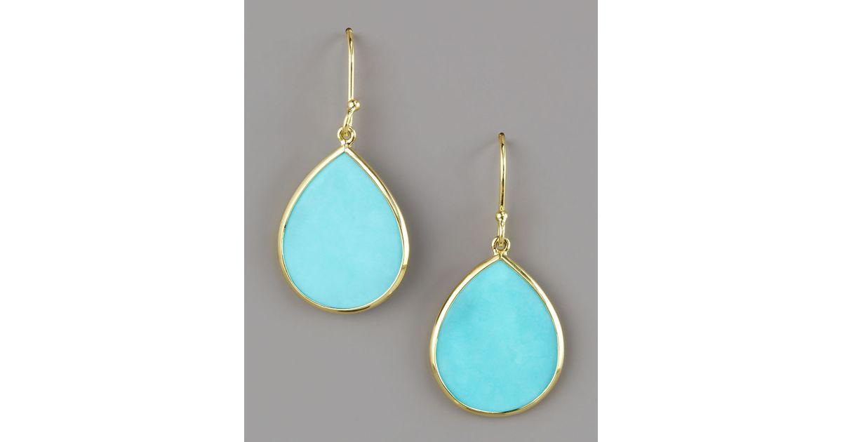 Ippolita 18k Small Teardrop Slice Earrings in Turquoise vcnCTMIHN
