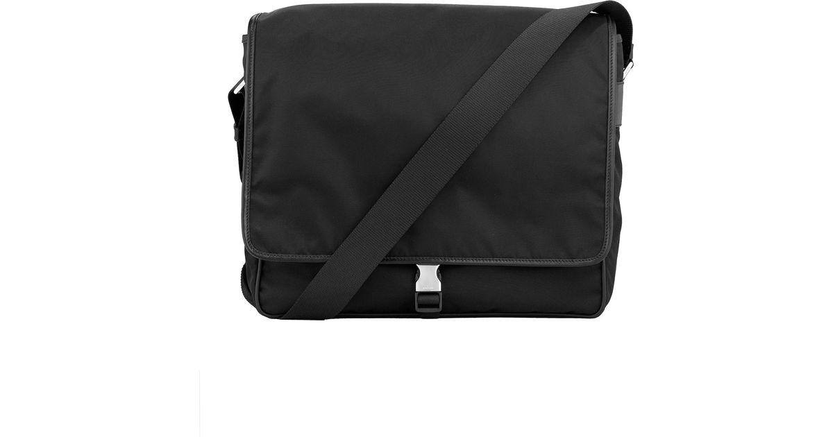 prada canvas messenger bag