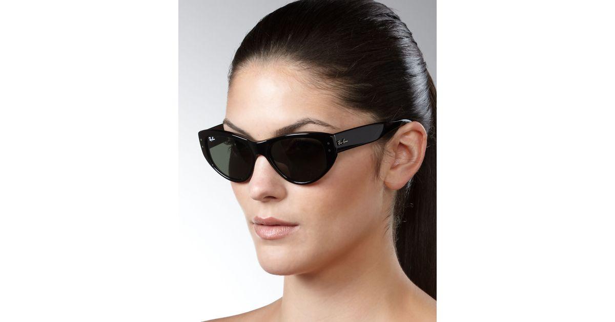 49c0c07079 Lyst - Ray-Ban Cateye Sunglasses Black in Black