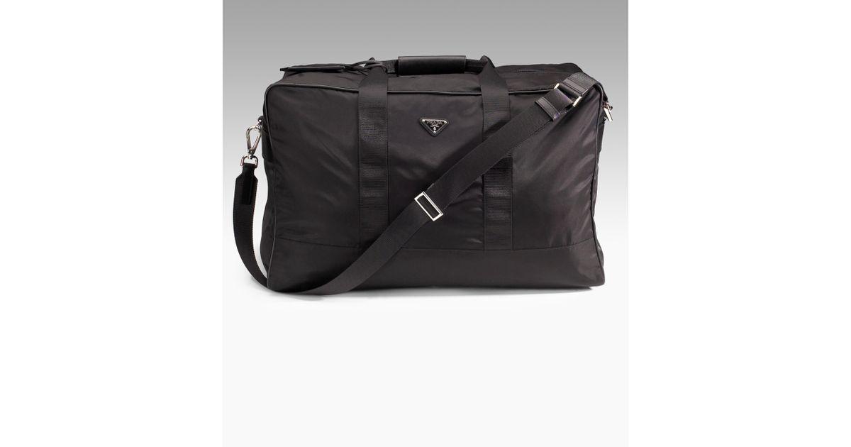 prada purse leather - prada classic duffle bag