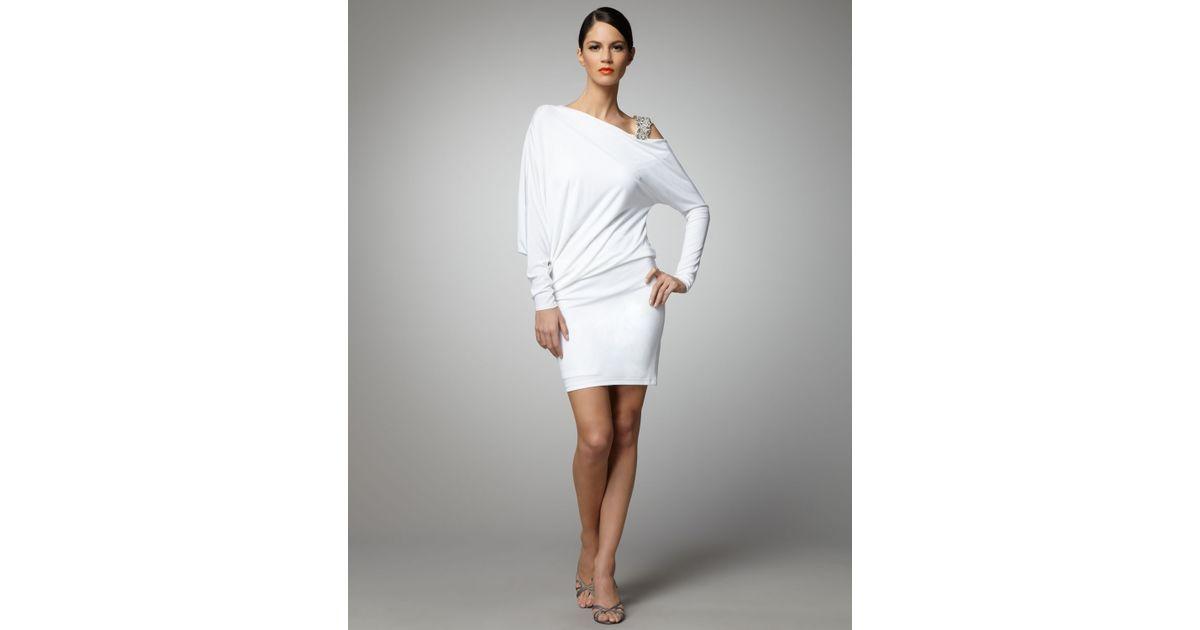 42ae1c4aea1 David Meister Dolman-sleeve Cocktail Dress in White - Lyst
