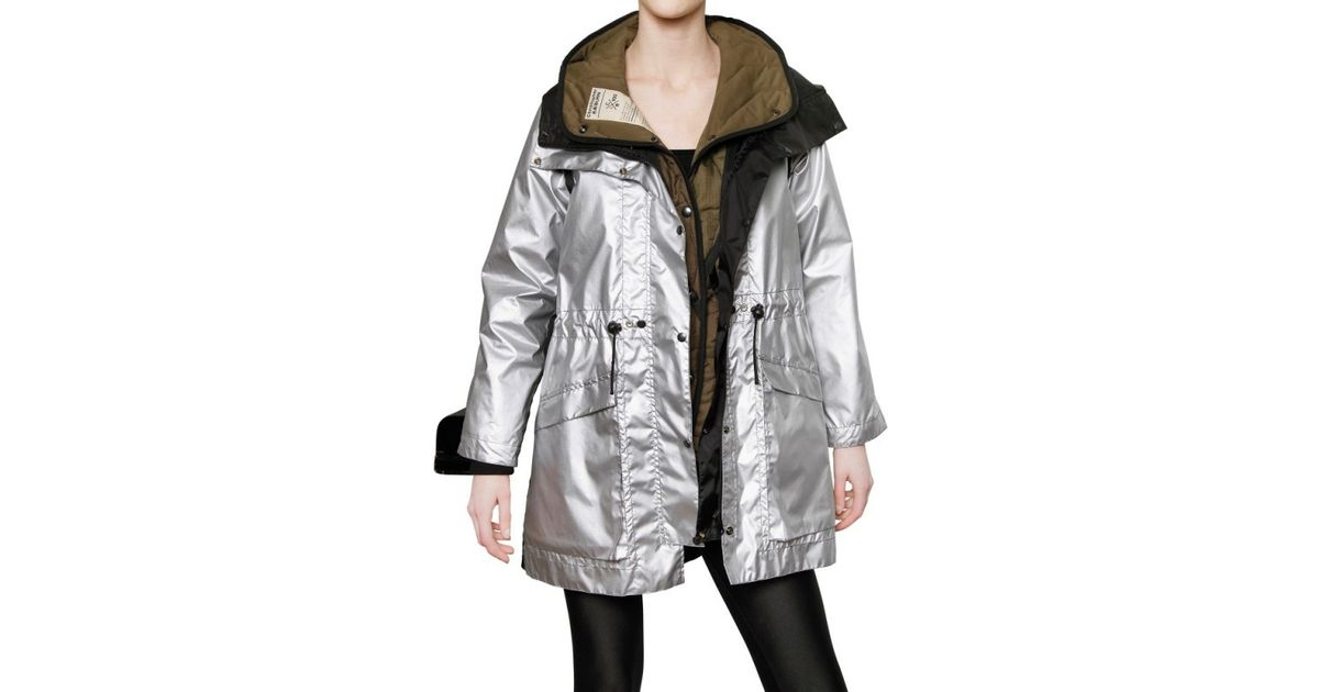 33c6c4a97fa Lyst - Christopher Raeburn Nylon and Quilted Parka Coat in Metallic