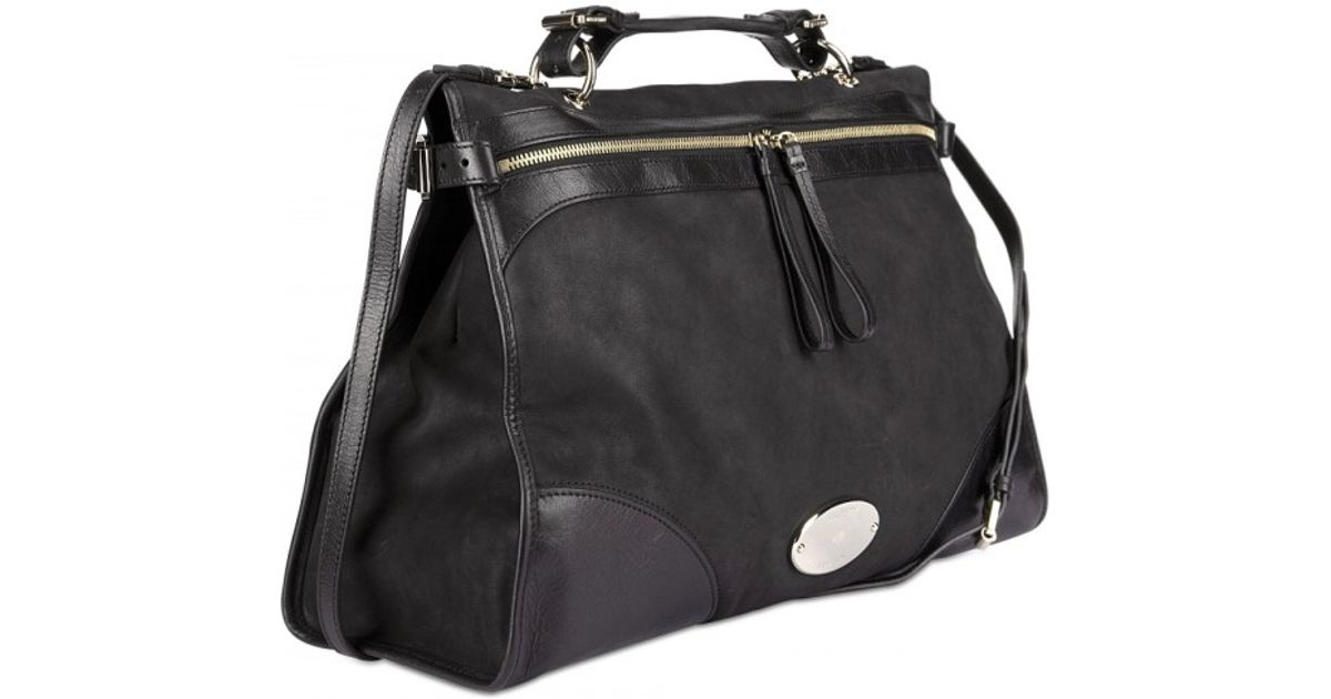 a600ae265868 ... wholesale lyst mulberry taylor oversized satchel in black 1fdfa 8e218