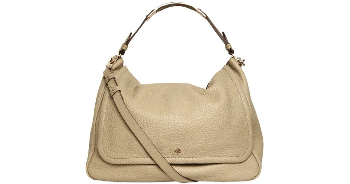 649092110fc4 ... where can i buy lyst mulberry large evelina leather satchel top handle  in natural 100e5 3679b