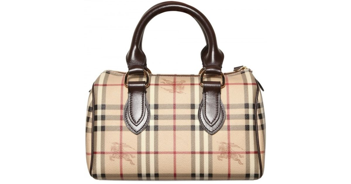 Lyst - Burberry Chester Check Top Handle in Brown 744a911211f7a