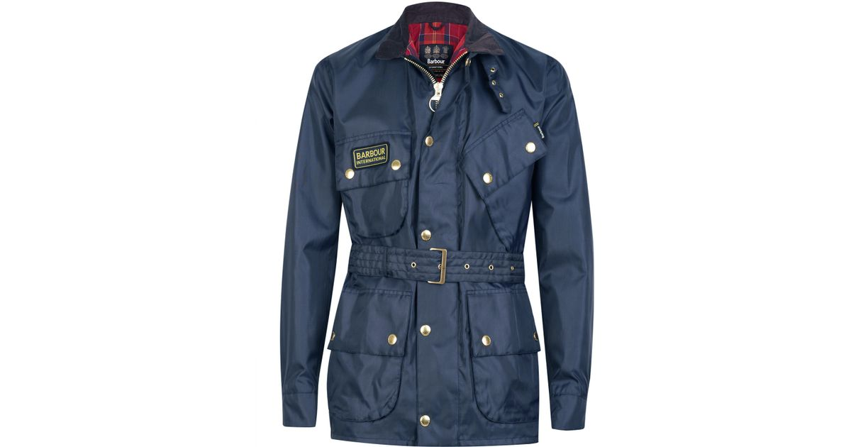 a63a302d Barbour International Nylon Jacket in Blue for Men - Lyst