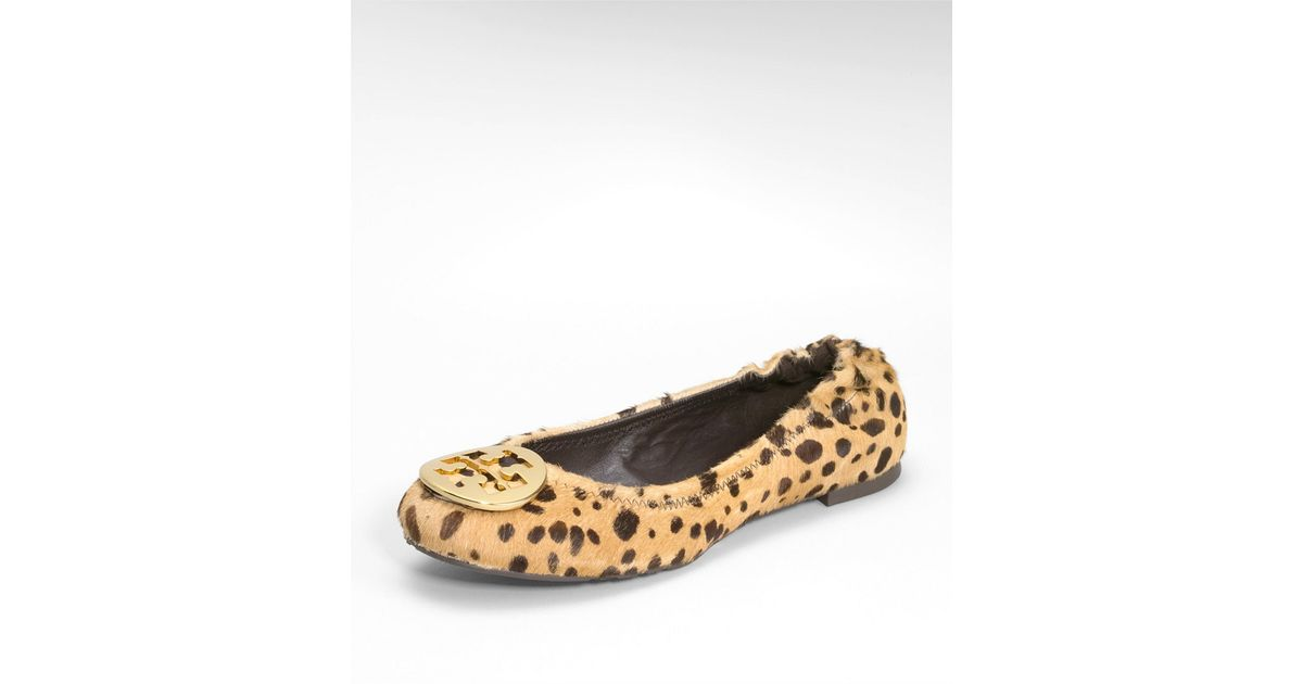ef40e747f ... discount code for lyst tory burch cheetah reva ballet flat in brown  dab38 20309