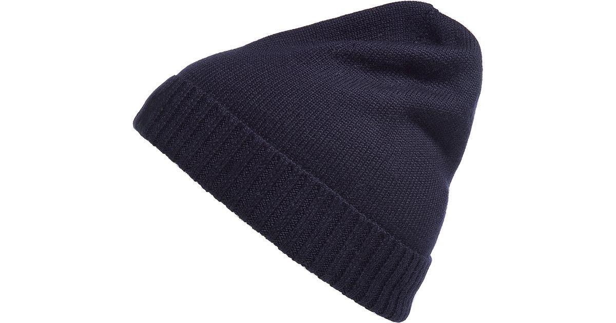 Lyst - Polo Ralph Lauren Hunter Navy Merino Wool Fold Up Cap in Blue for Men 0985384e39c