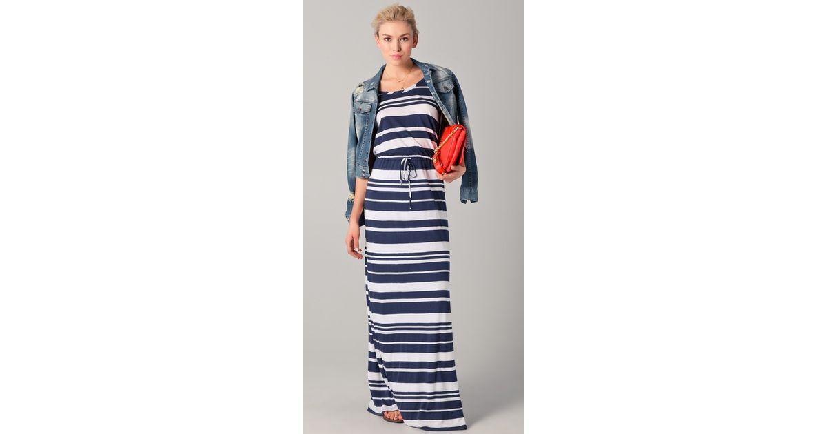 Splendid maritime striped maxi dress