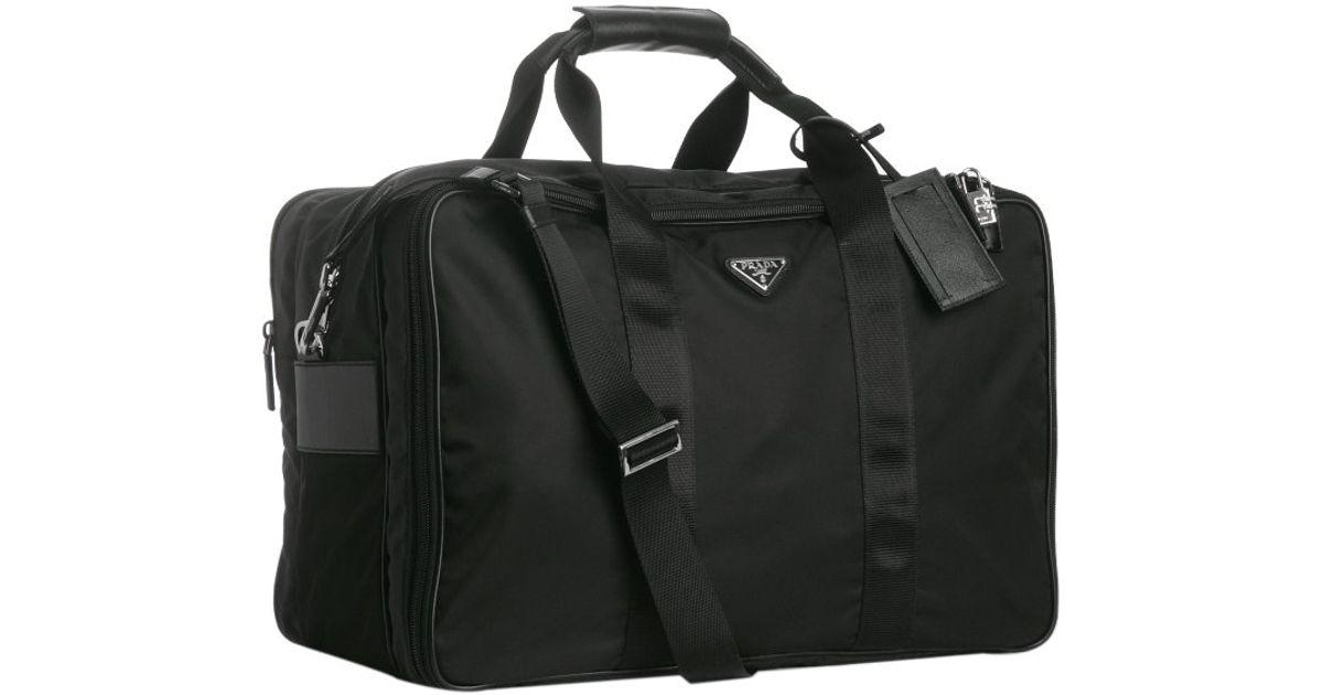 Prada Black Nylon Large Travel 6