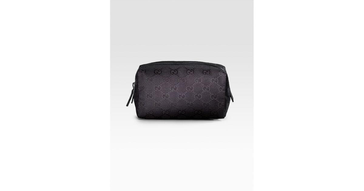0ea60bd09e9d Lyst - Gucci Balthus Original Logo Large Cosmetic Case in Black