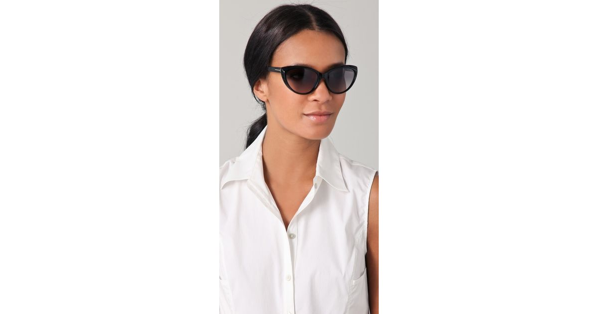 ba79256b92c23 Tom Ford Martina Cat Eye Sunglasses in Black - Lyst