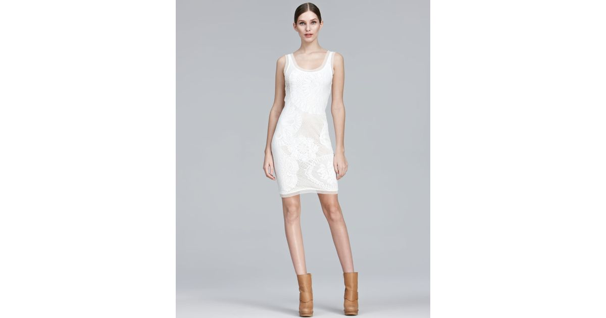 Jean Paul Gaultier Natural Lace Tank Dress Lyst