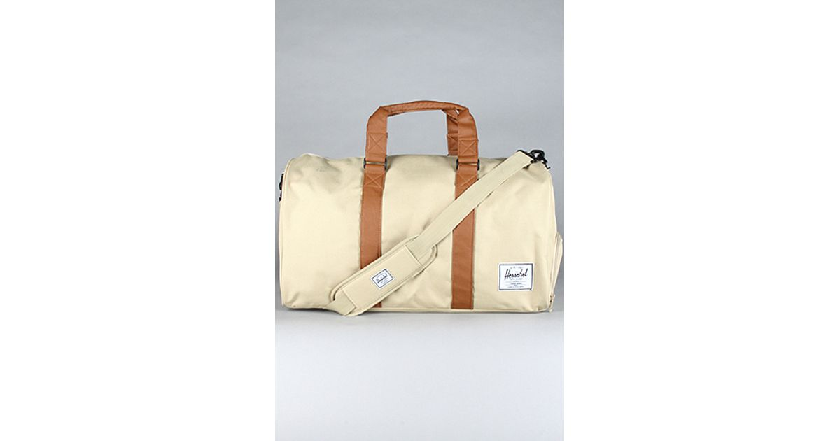 35bf810b70 Lyst - Herschel Supply Co. The Novel Duffle Bag in Khaki   Tan in Natural  for Men