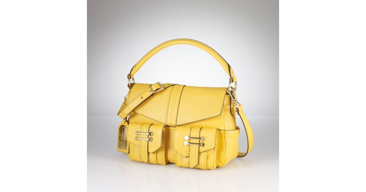 Lauren By Ralph Lauren Bermondsey Convertible Bag in Yellow - Lyst 27667a11d33