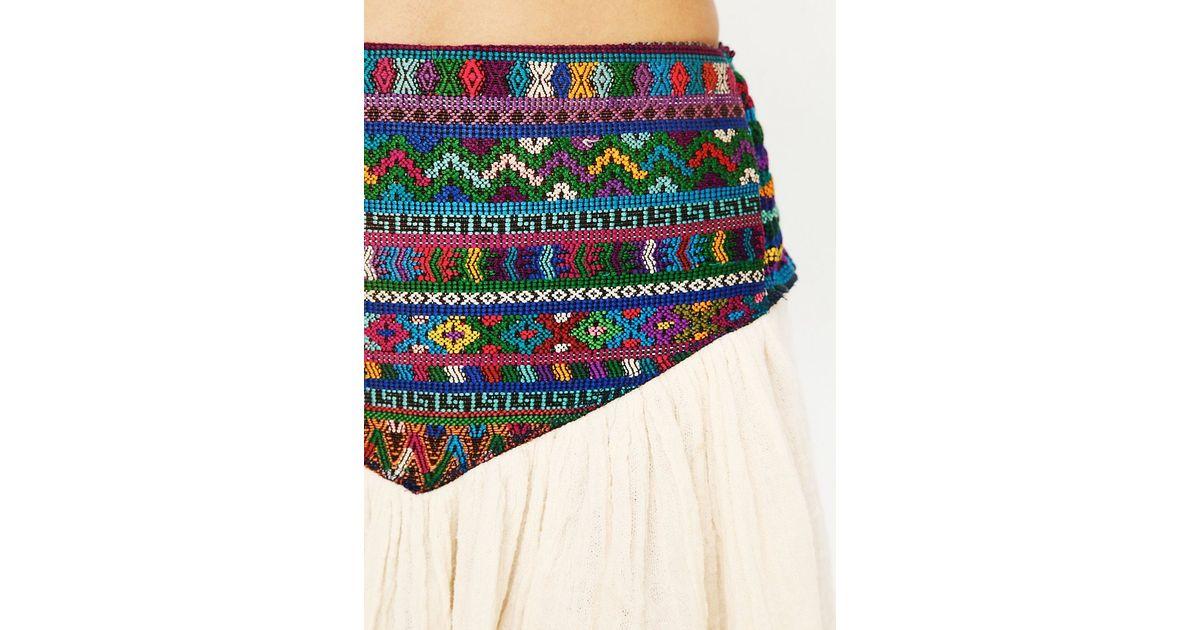 0b2c870693035 Lyst - Free People Guipil Asteria Mini Skirt in Natural